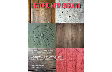 Cover of the fall 2019 issue of Historic New England magazine