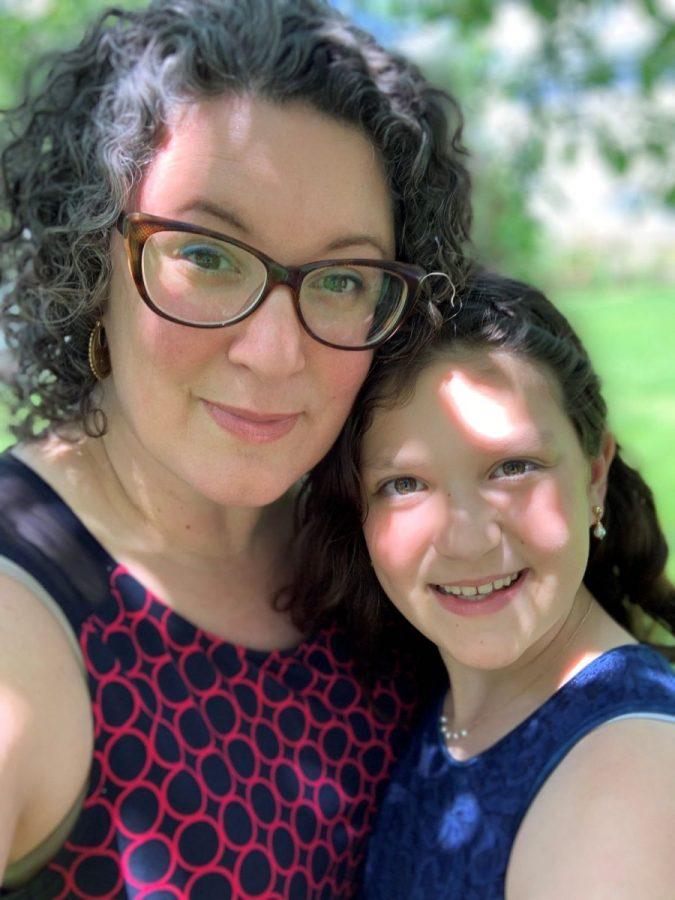 Cristina Prochilo with daughter