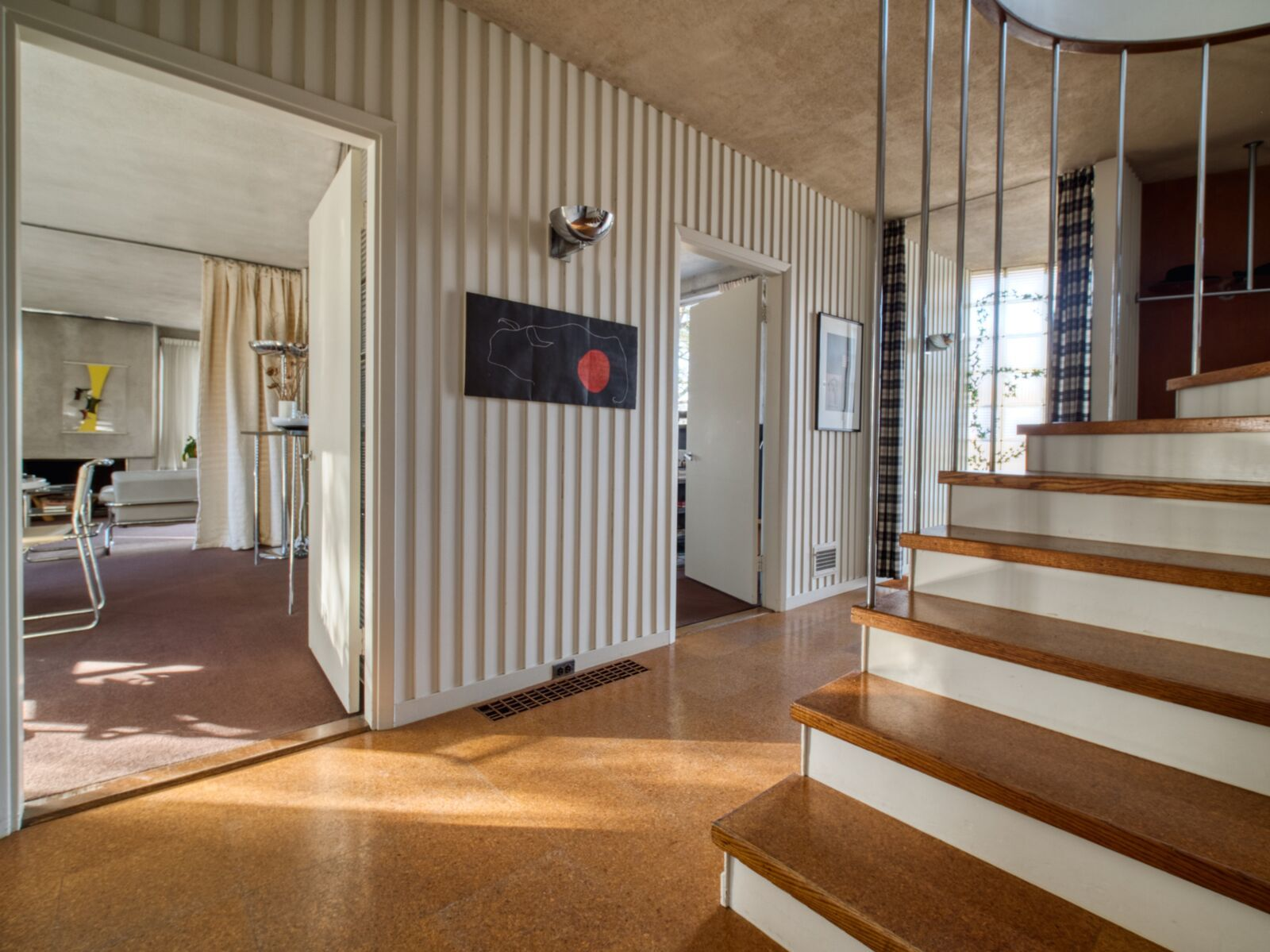 Interior hallway to Gropius House