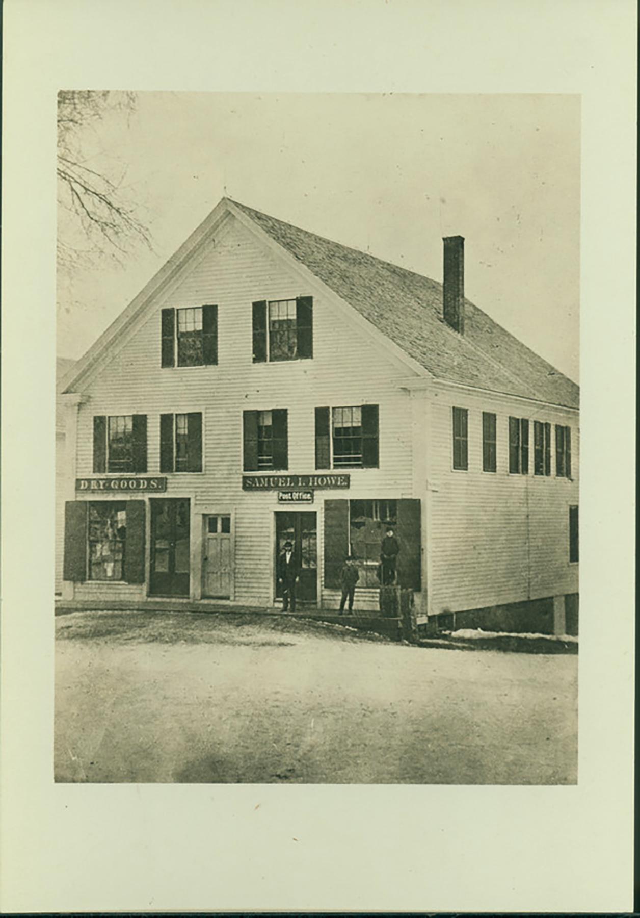 Howe's store in Shrewsbury showing post office