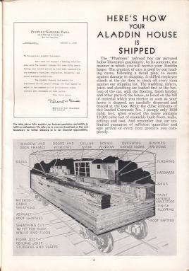 Shipping explanation for Aladdin redi-cut homes.