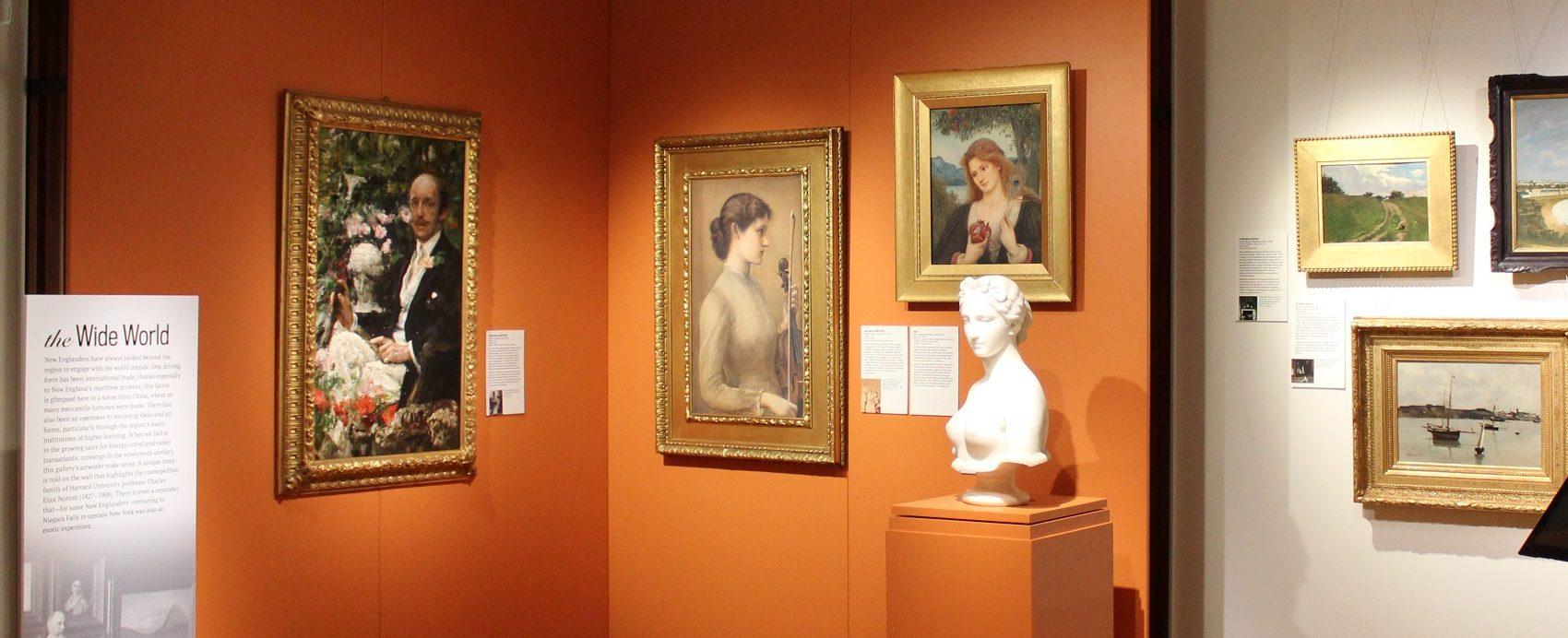 Paintings on display in the Eustis Estate galleries