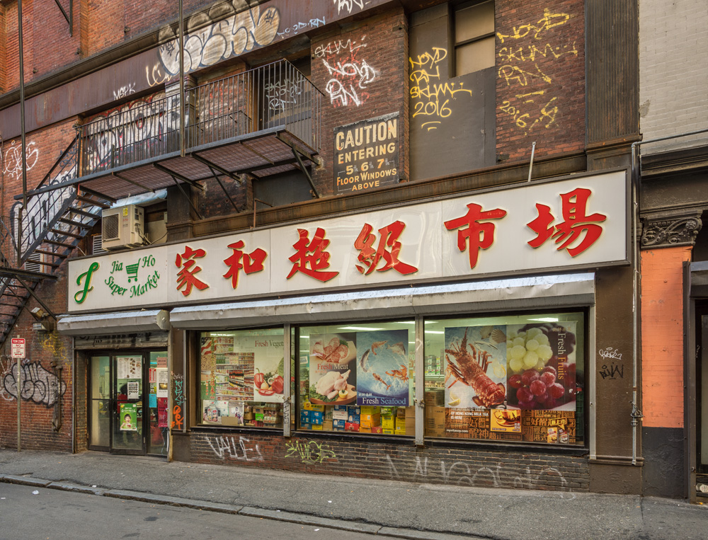 Image of a Chinatown market in Boston