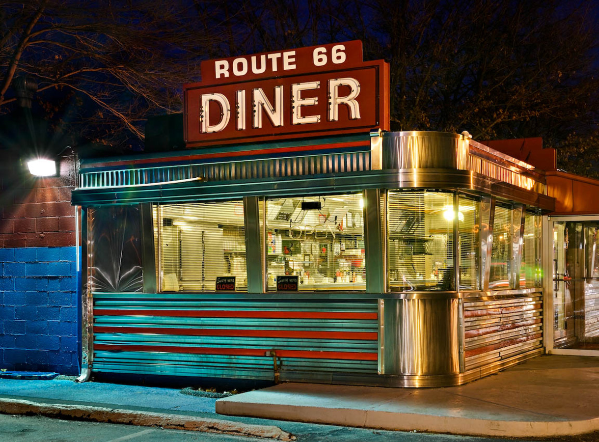 John Woolf images of New England diners