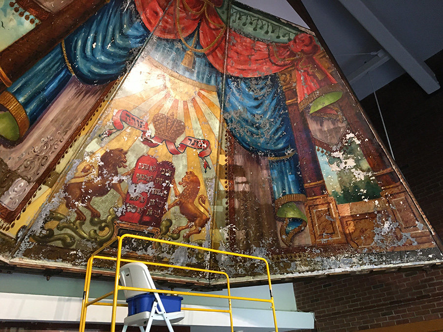 Image of conservation work for Lost Murals CPG project