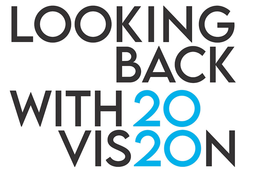 Exhibition logo for Looking Back with 2020 Vision in 2021