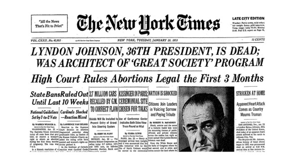January 1973: Watergate, Roe v. Wade, Vietnam, and the Month That Changed America Forever