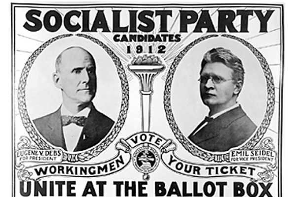 Eugene Debs campaign poster for socialist party, 1912