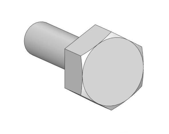Adlers Nest Hexagon Bolt Head 1.2mm, L, Nickel Silver