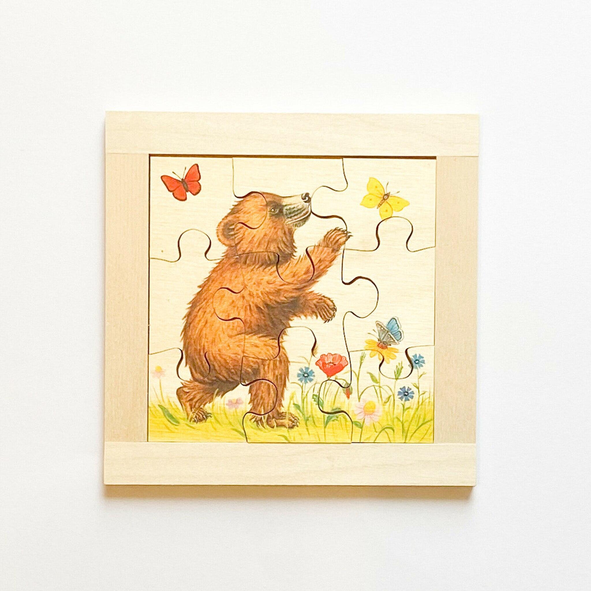 Atelier Fischer Magic Box Mosaic Flat Puzzle Bears, 9 pcs, Made in Switzerland