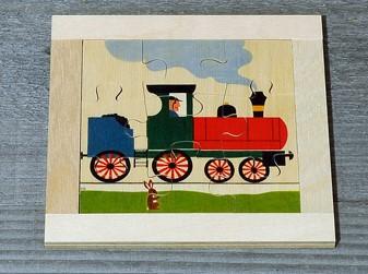 Atelier Fischer Magic Box Mosaic Flat Puzzle Train, 9 pcs, Made in Switzerland
