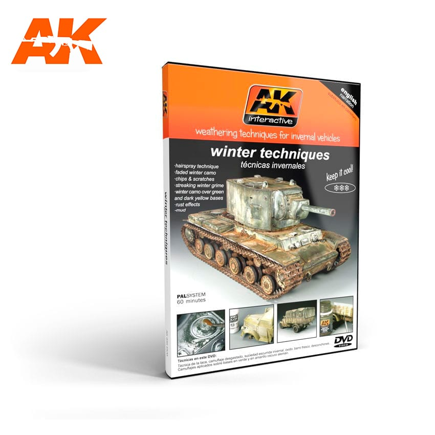 AK Interactive Weathering Techniques For Invernal Vehicles (DVD)