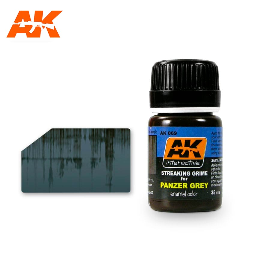 AK Interactive Streaking Grime For Panzer Grey Vehicles