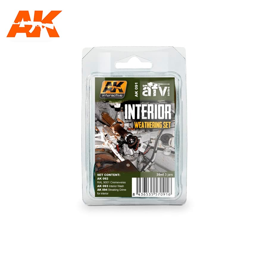 AK Interactive Interior Weathering Set