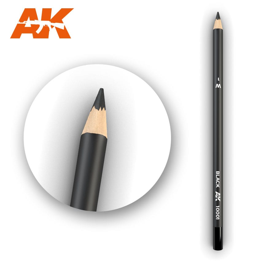 AK Interactive Watercolor Pencil Black (Box - 5 Units)