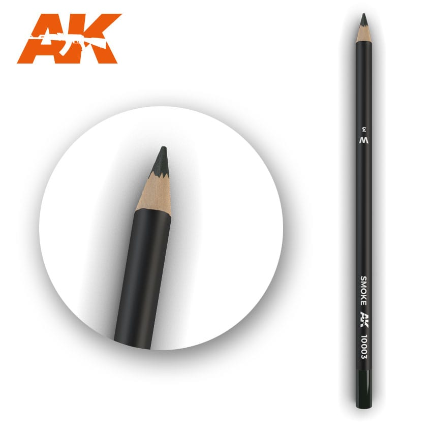 AK Interactive Watercolor Pencil Smoke (Box - 5 Units)