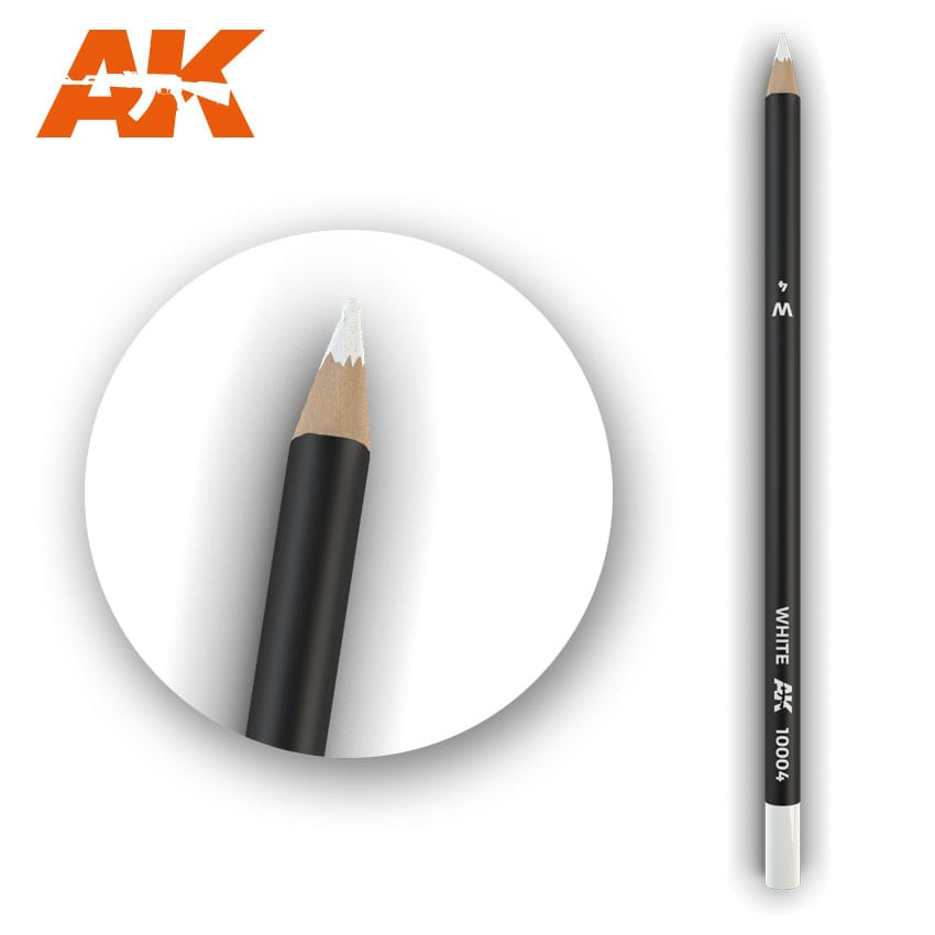 AK Interactive Watercolor Pencil White (Box - 5 Units)