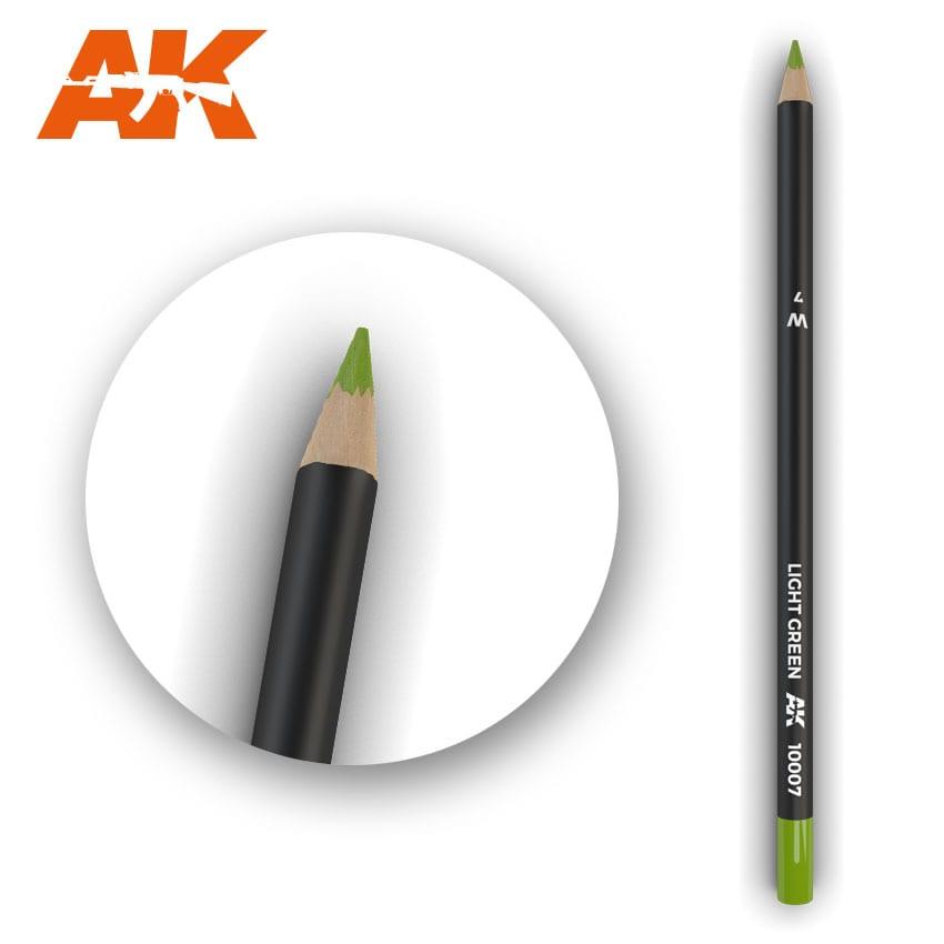 AK Interactive Watercolor Pencil Light Green (Box - 5 Units)