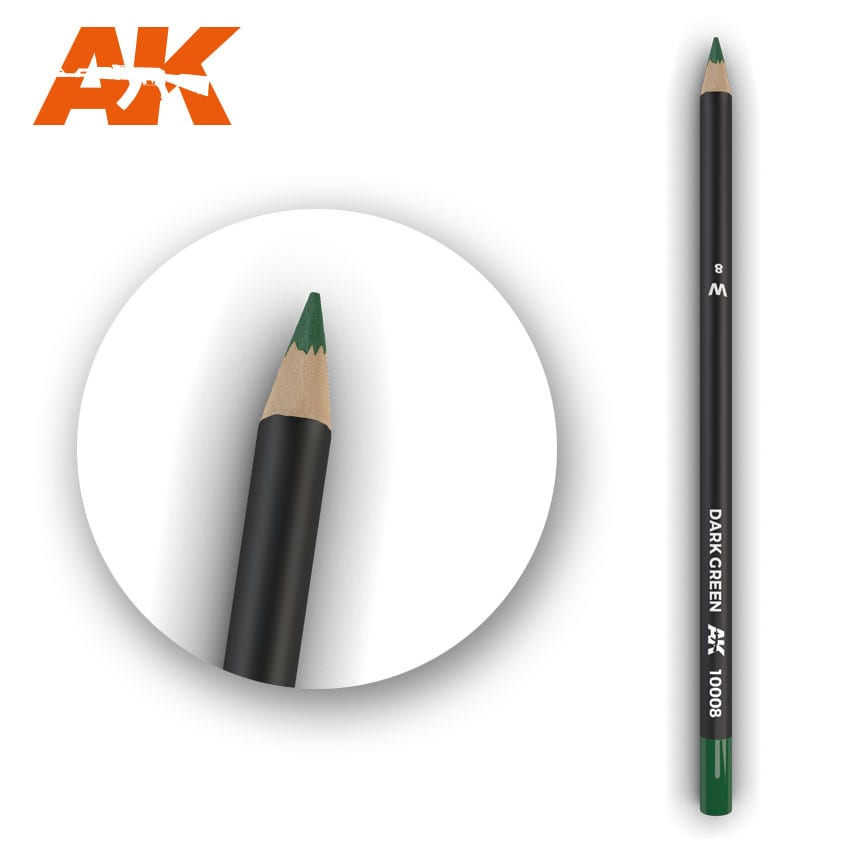 AK Interactive Watercolor Pencil Dark Green (Box - 5 Units)