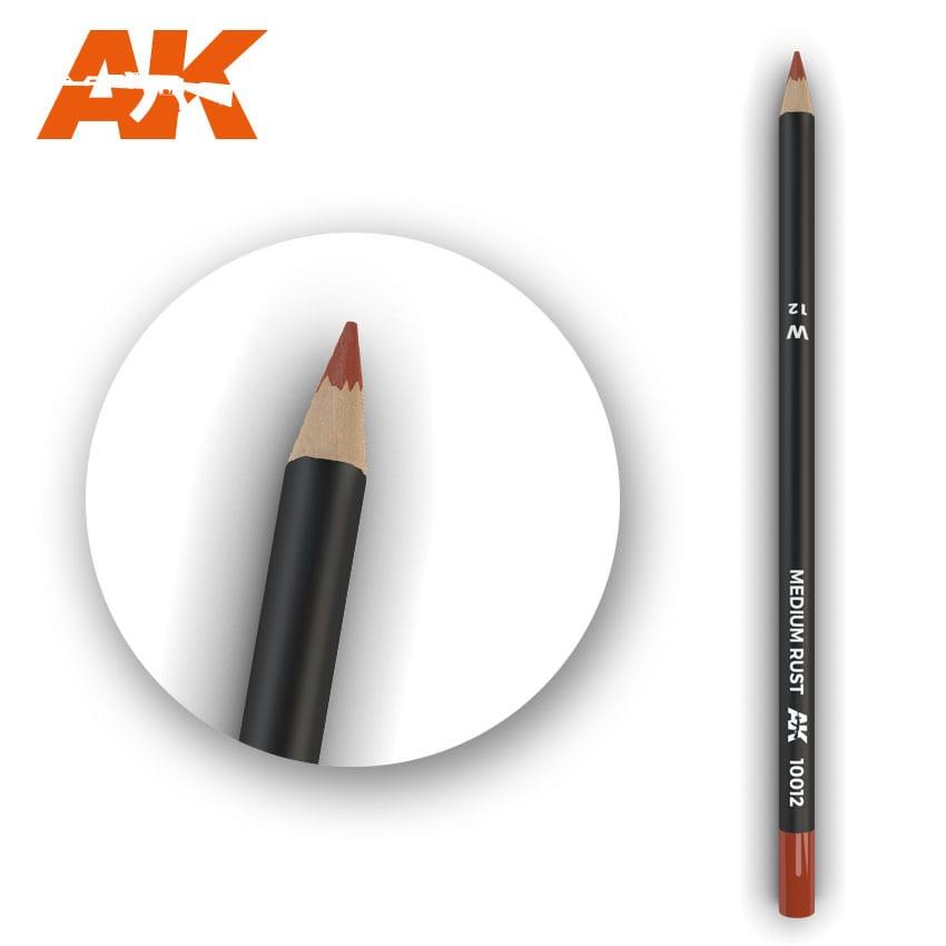 AK Interactive Watercolor Pencil Medium Rust (Box - 5 Units)