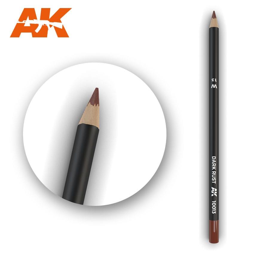 AK Interactive Watercolor Pencil Dark Rust (Box - 5 Units)