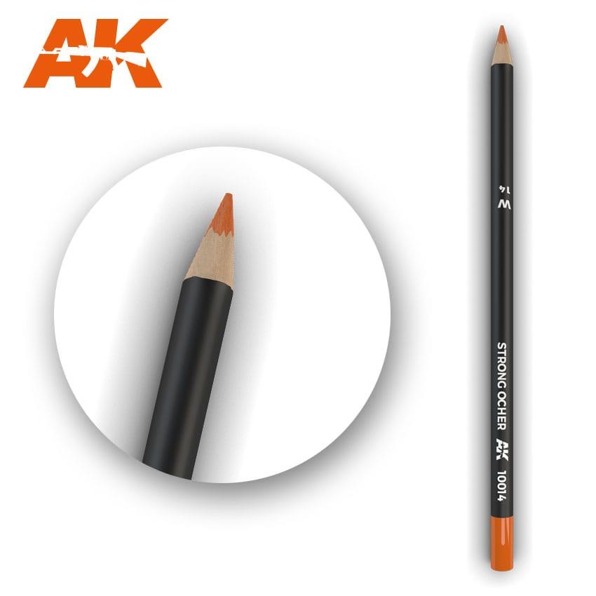 AK Interactive Watercolor Pencil Strong Ocher (Box - 5 Units)