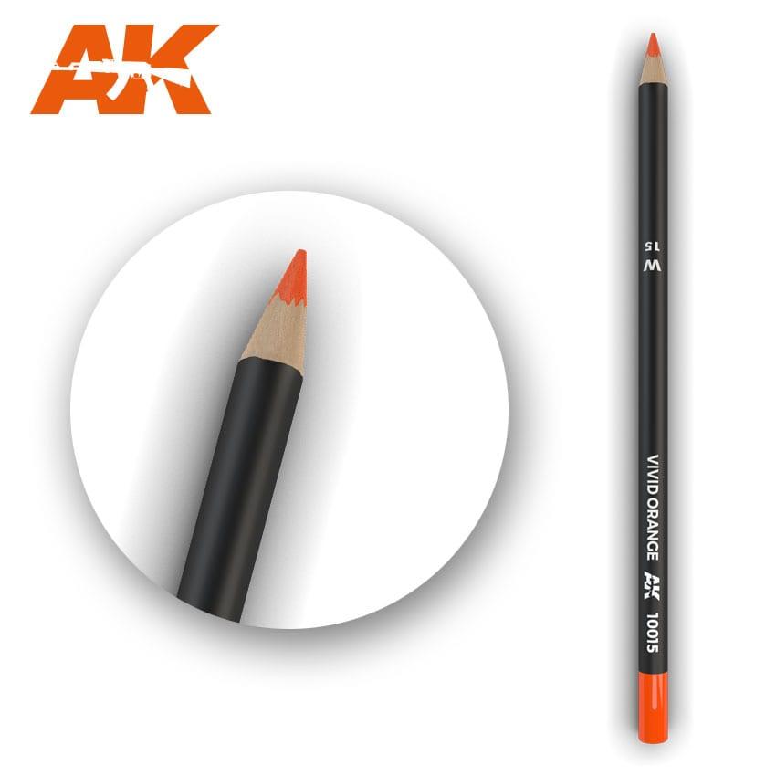 AK Interactive Watercolor Pencil Vivid Orange (Box - 5 Units)