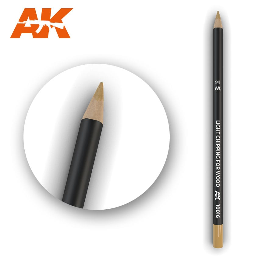 AK Interactive Watercolor Pencil Light Chipping For Wood (Box - 5 Units)