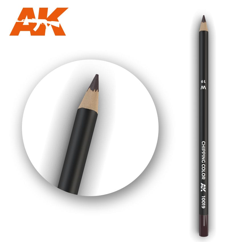 AK Interactive Watercolor Pencil Chipping Color (Box - 5 Units)