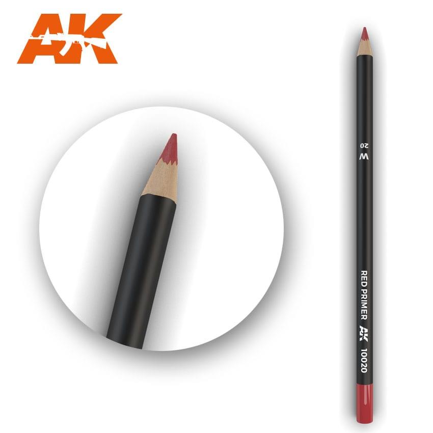 AK Interactive Watercolor Pencil Red Primer (Box - 5 Units)