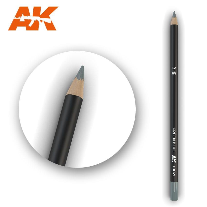 AK Interactive Watercolor Pencil Green Blue (Box - 5 Units)