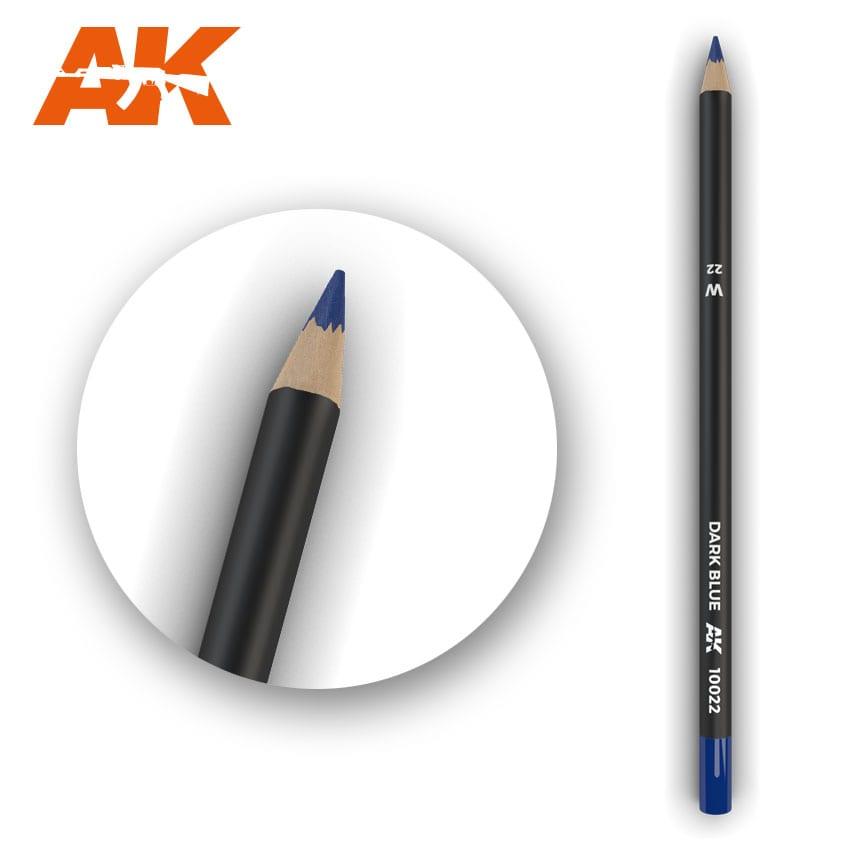 AK Interactive Watercolor Pencil Dark Blue (Box - 5 Units)