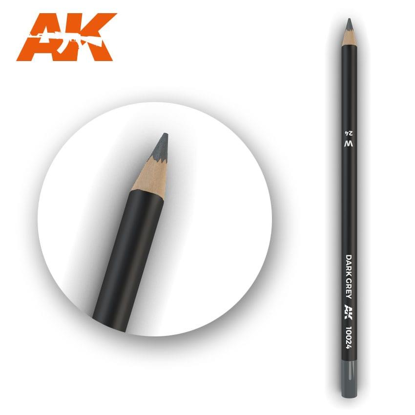 AK Interactive Watercolor Pencil Dark Grey (Box - 5 Units)