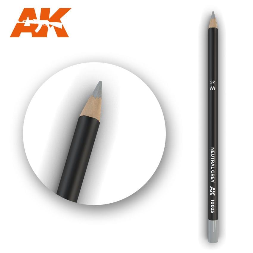 AK Interactive Watercolor Pencil Neutral Grey (Box - 5 Units)
