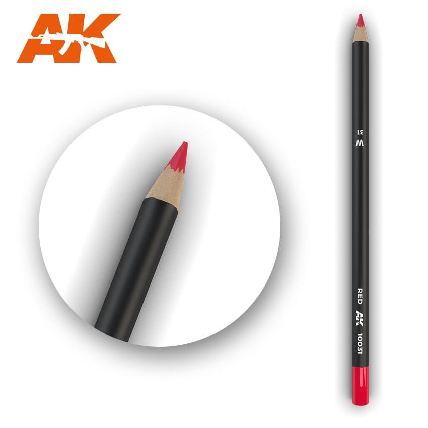 AK Interactive Watercolor Pencil Red  (Box - 5 Units)