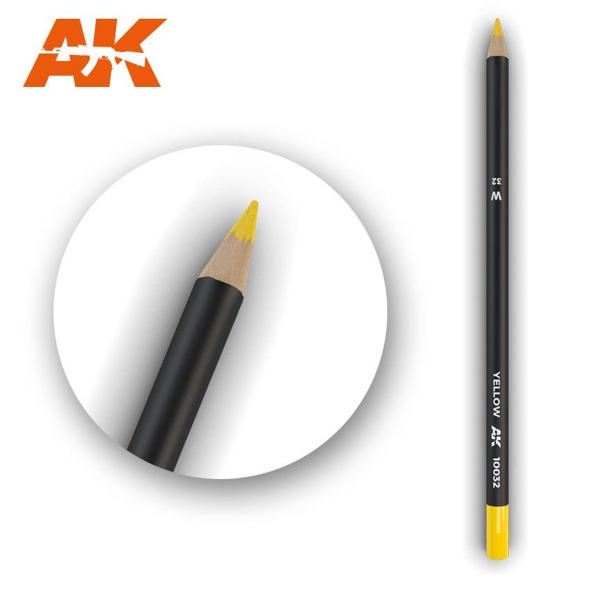 AK Interactive Watercolor Pencil Yellow (Box - 5 Units)