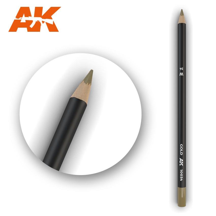 AK Interactive Watercolor Pencil Gold (Box - 5 Units)