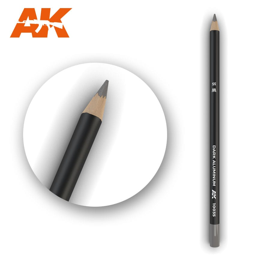 AK Interactive Watercolor Pencil Dark Aluminum Nickel (Box - 5 Units)