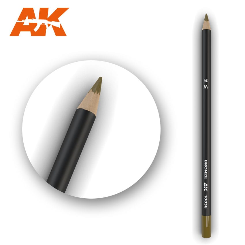 AK Interactive Watercolor Pencil Bronze (Box - 5 Units)