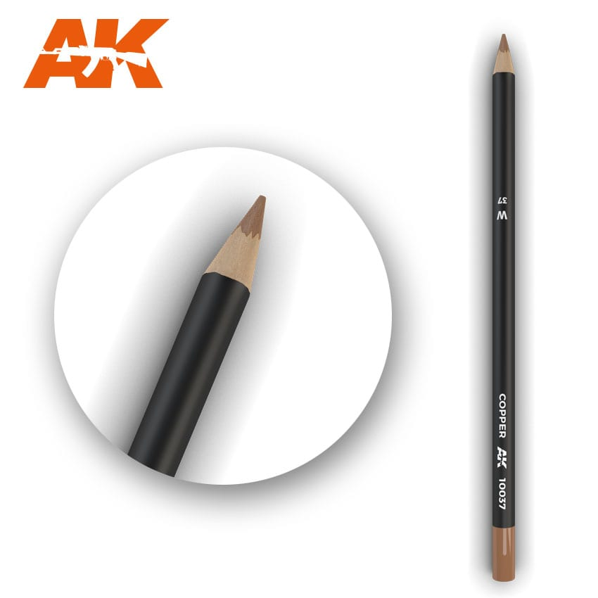 AK Interactive Watercolor Pencil Copper (Box - 5 Units)