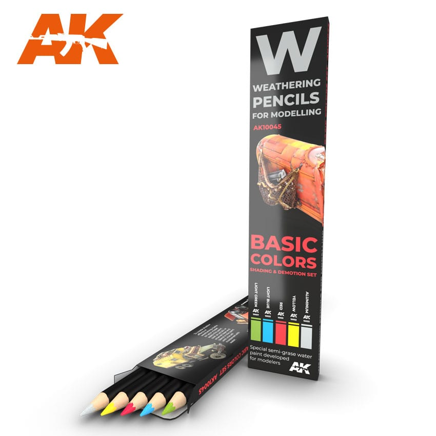 AK Interactive Weathering Pencil Set - Basics