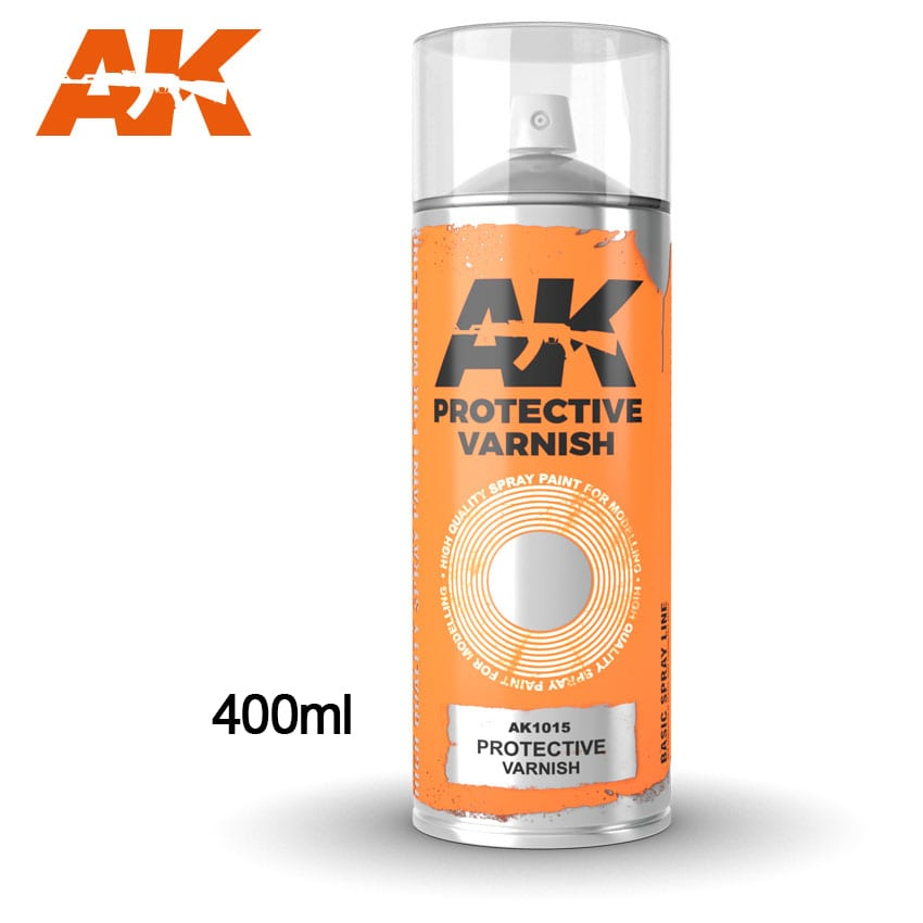 AK Interactive Protective Varnish - Spray 400ml (Includes 2 nozzles)