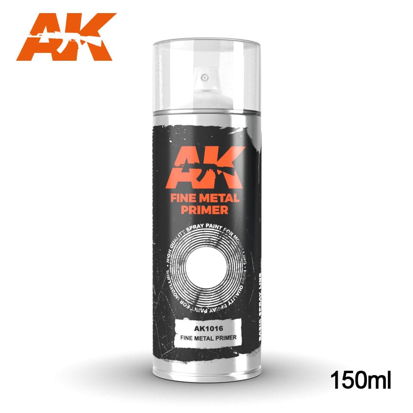 AK Interactive Fine Metal Primer - Spray 150ml
