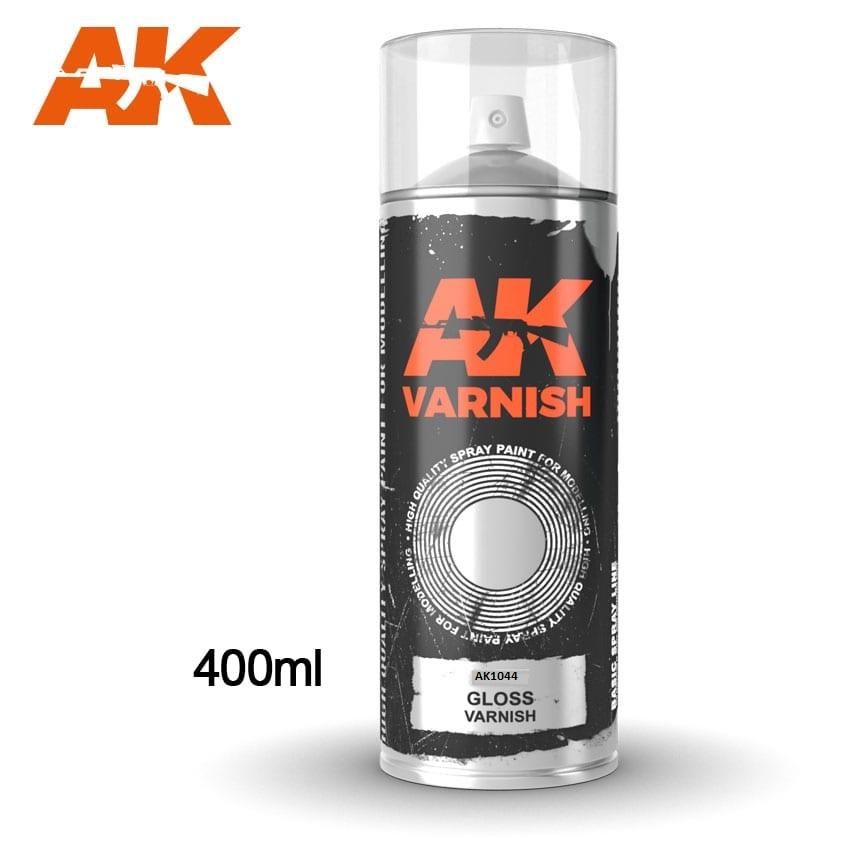 AK Interactive Gloss Varnish Spray (USA) 400ML