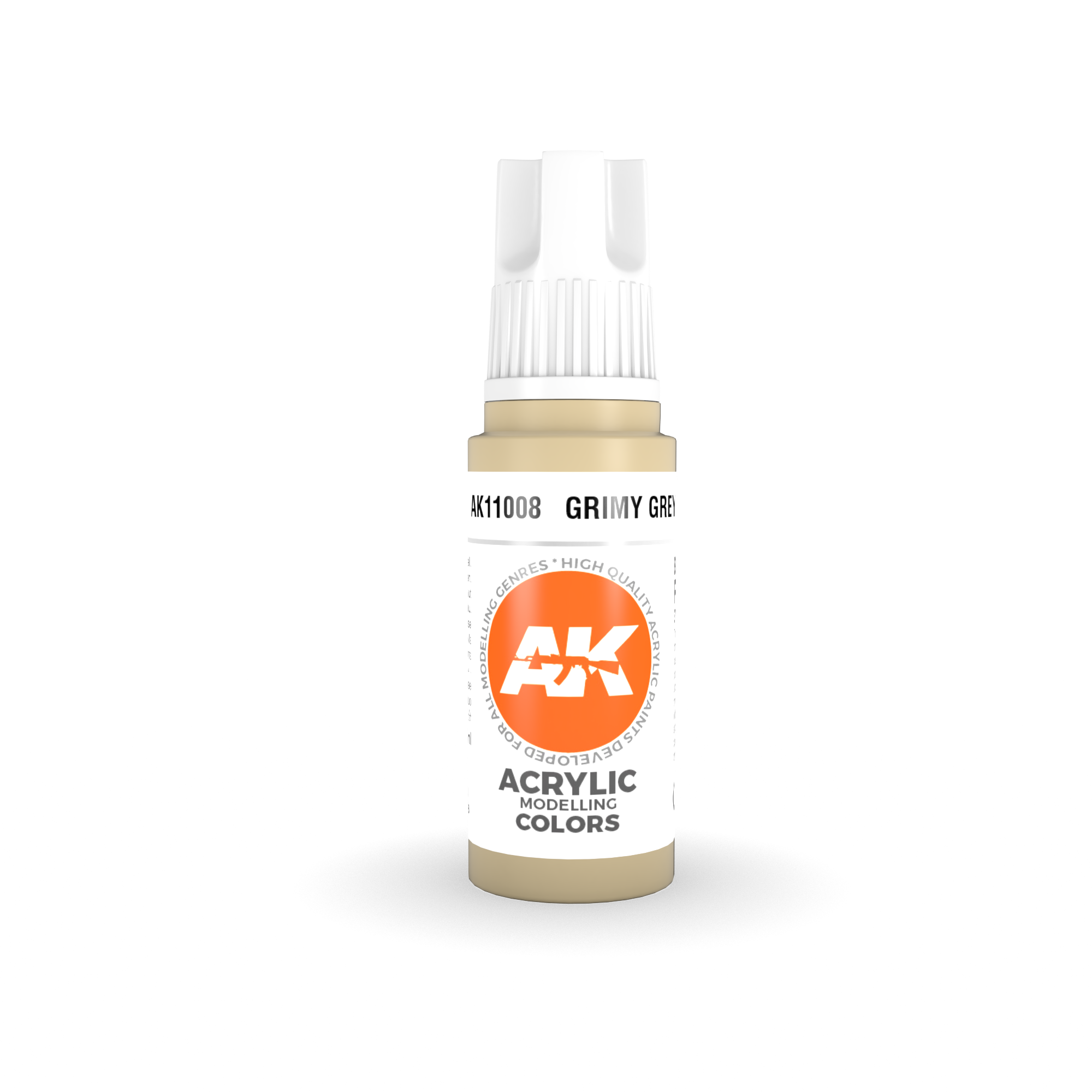 AK Interactive 3rd Gen Acrylic Grimy Grey 17ml
