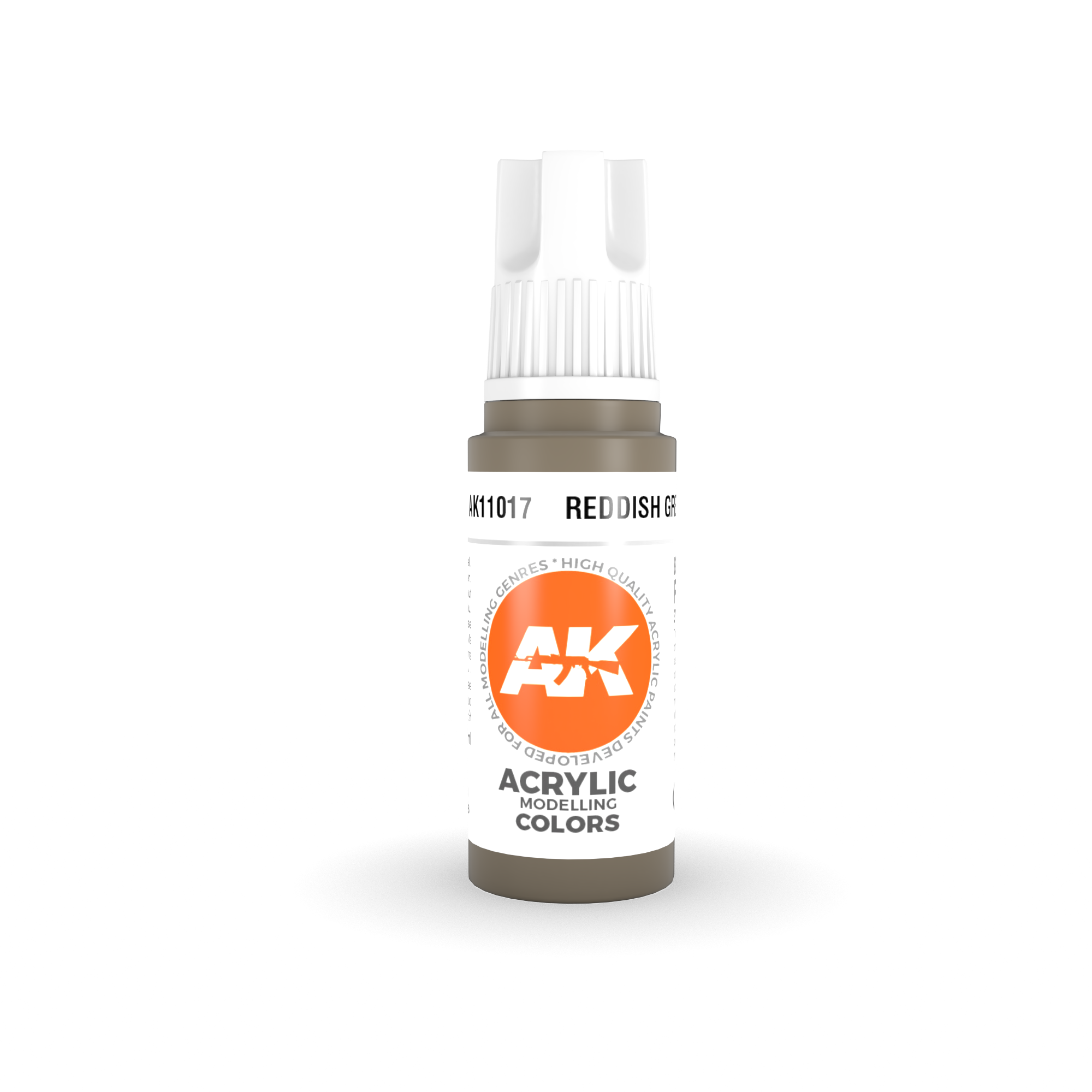 AK Interactive 3rd Gen Acrylic Reddish Grey 17ml