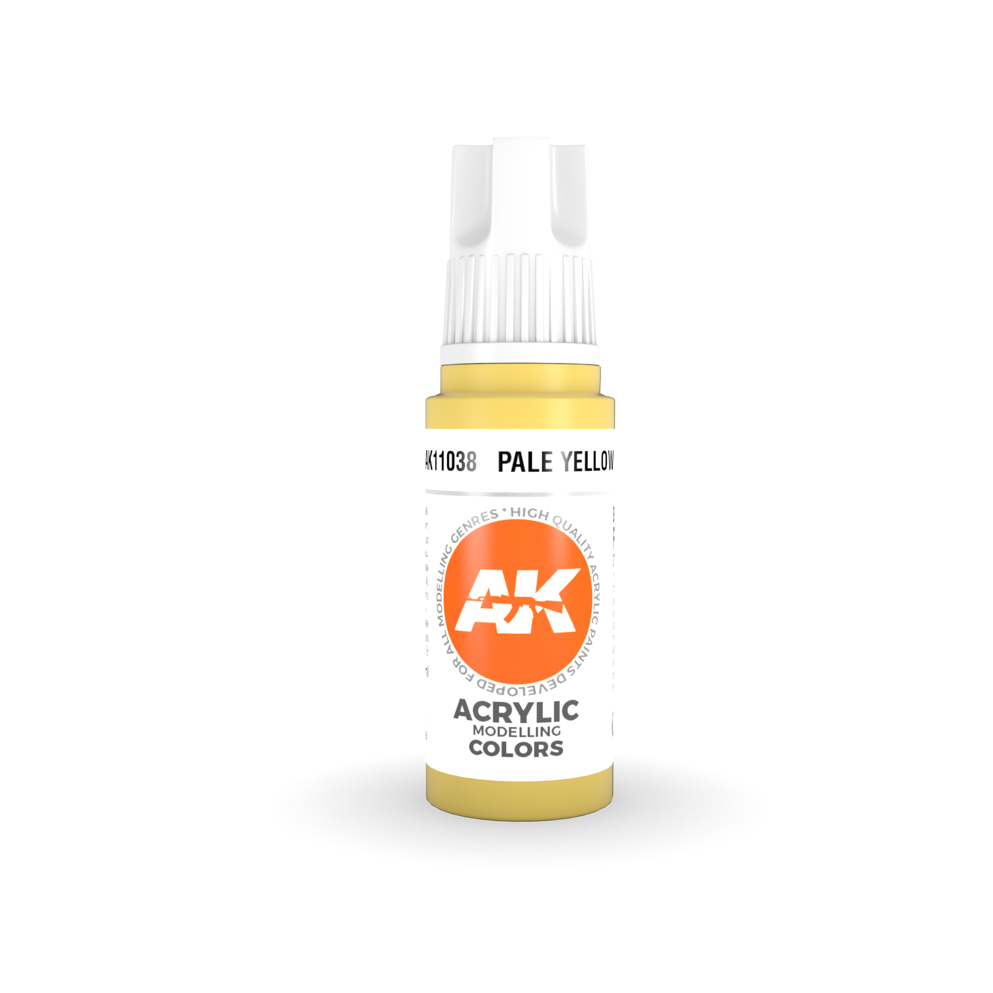 AK Interactive 3rd Gen Acrylic Pale Yellow 17ml