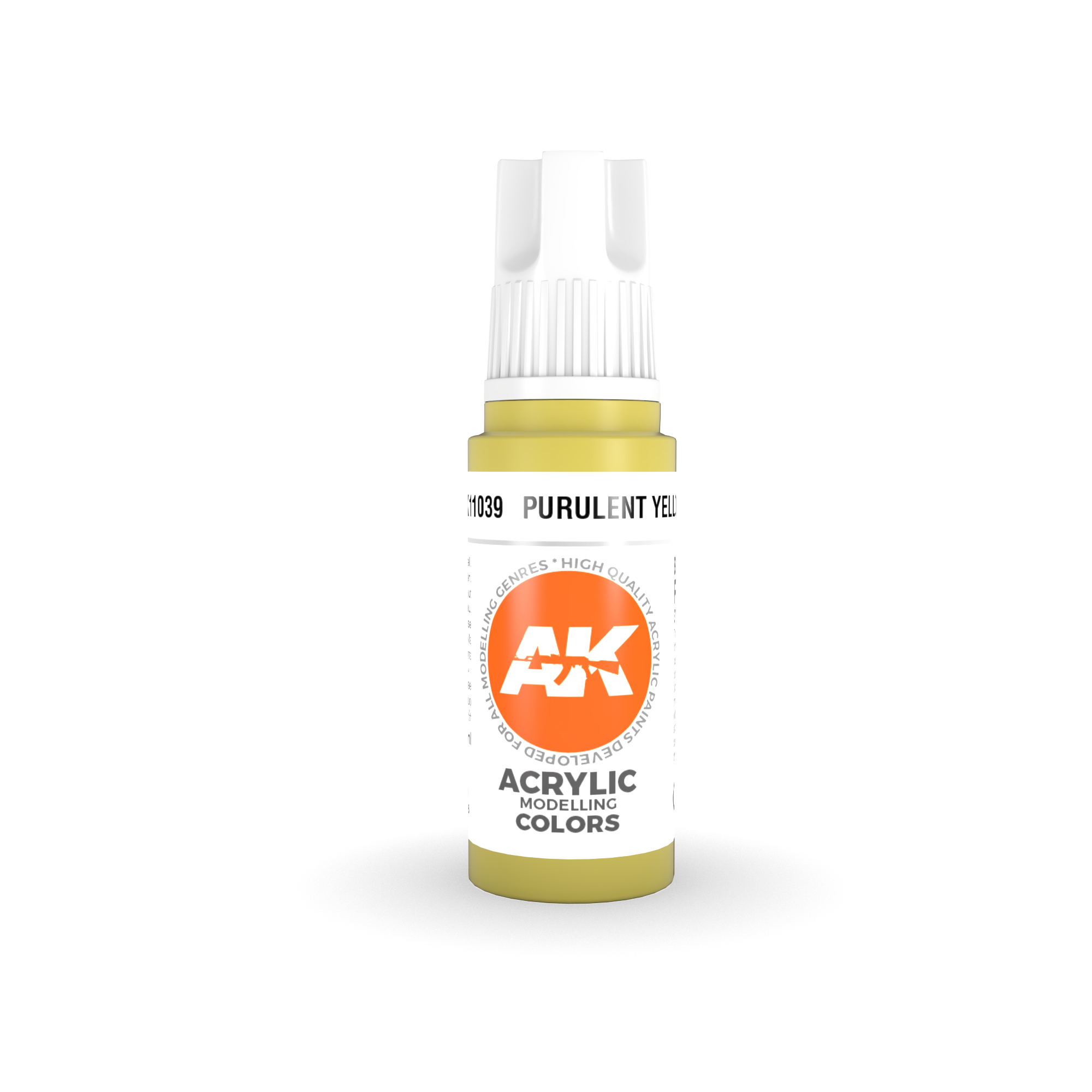 AK Interactive 3rd Gen Acrylic Purulent Yellow 17ml