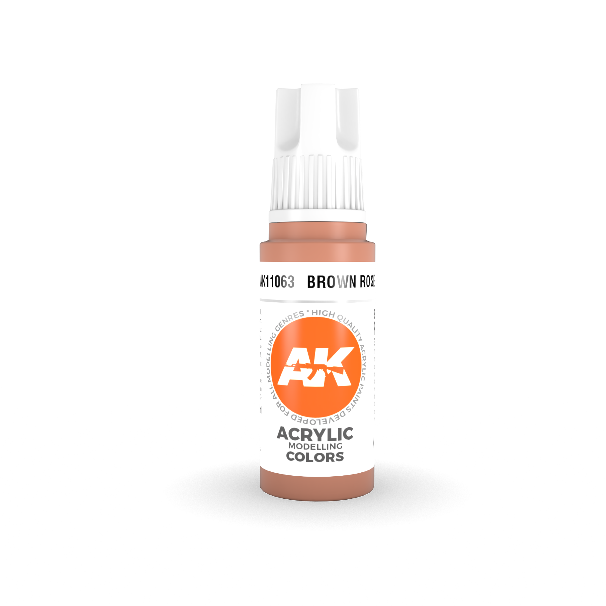 AK Interactive 3rd Gen Acrylic Brown Rose 17ml