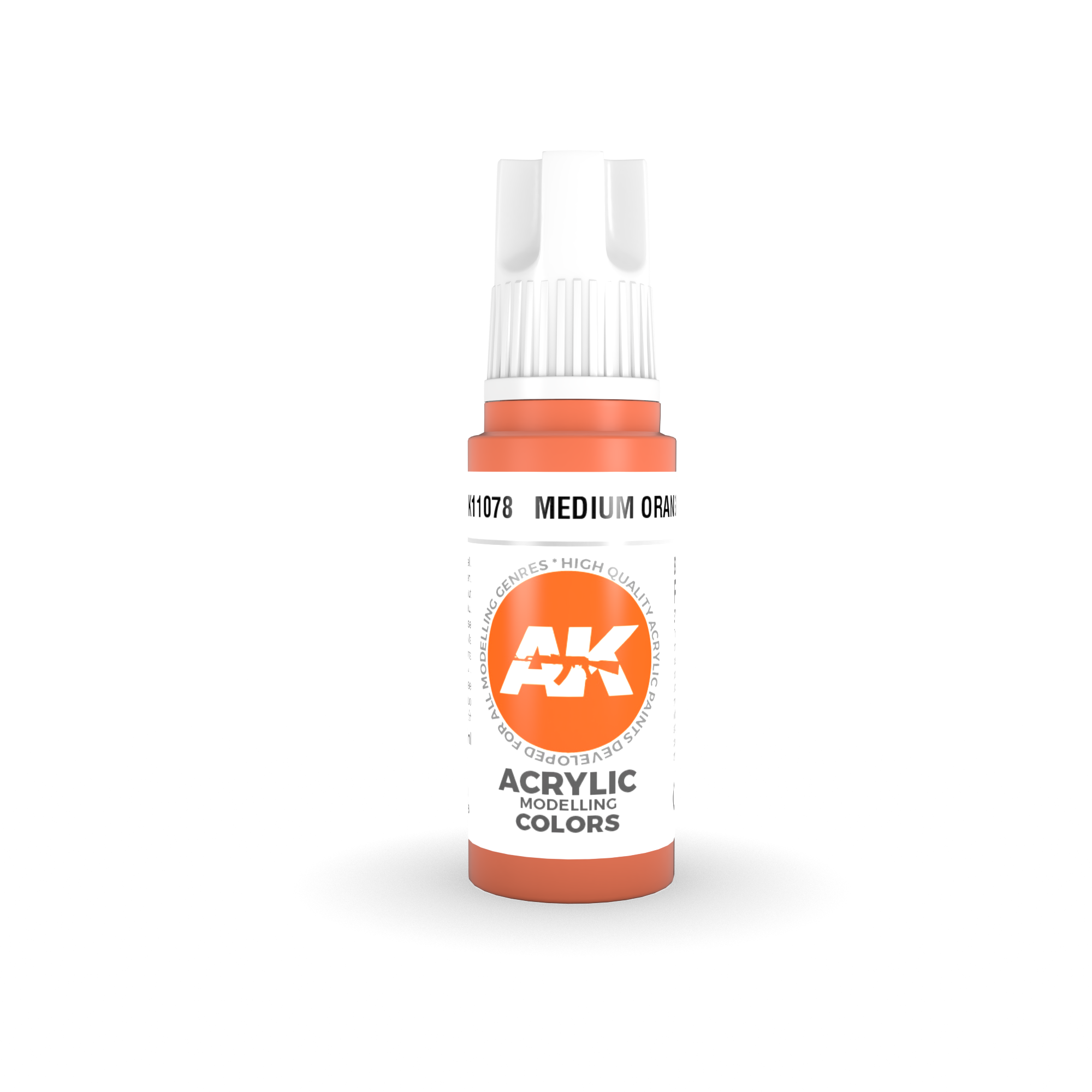 AK Interactive 3rd Gen Acrylic Medium Orange 17ml